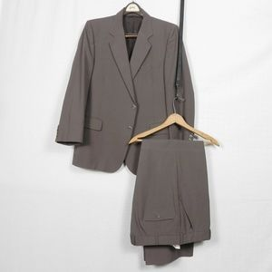 Vintage | Classic Custom Tailored Brown Suit 42s